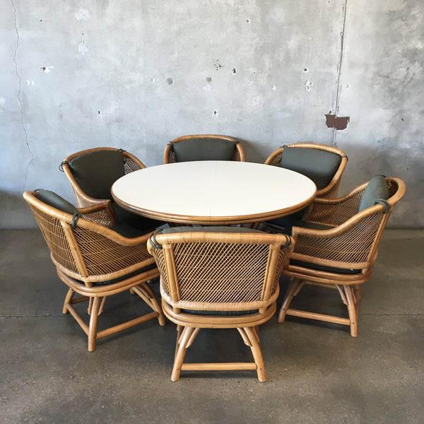 1970's Bamboo and Formica Table & Chair Set