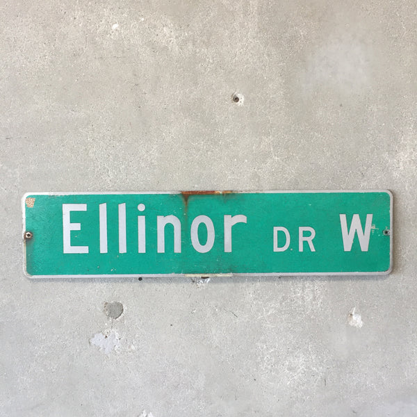Vintage Seattle St Sign Ellinor Dr