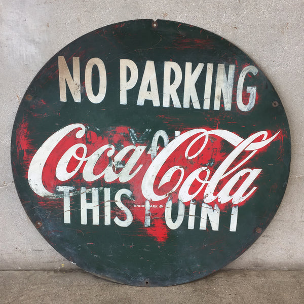 Coca Cola Button No Parking Sign