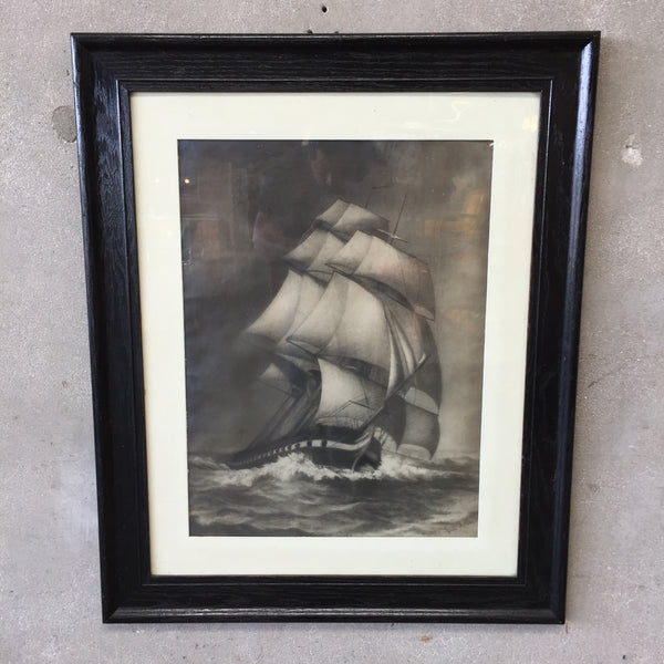 Vintage Ship Framed Print