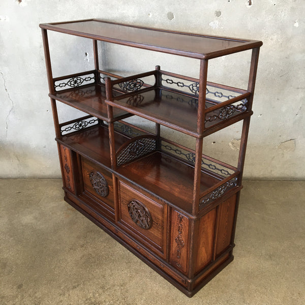 Asian Style Wood Bookcase