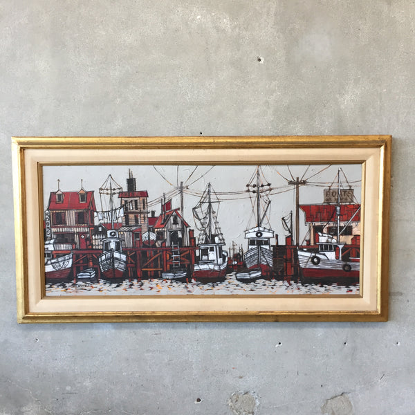 Mid Century Signed Painting by Scott Kuhnly