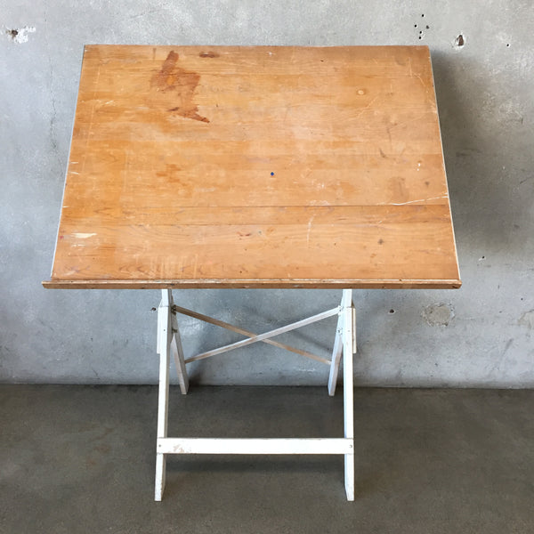 White Vintage Drafting Table