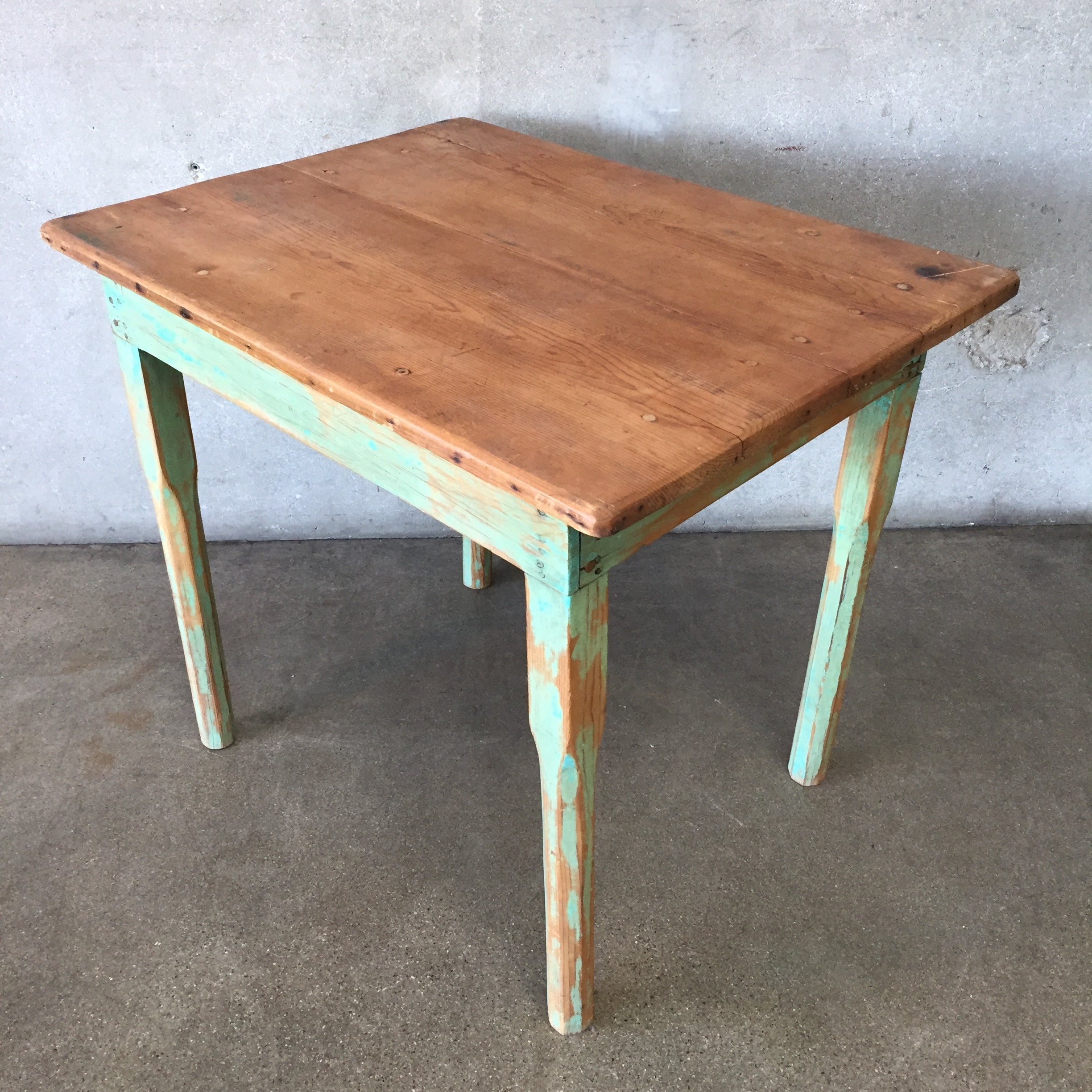 Excellent Vintage Green Rustic Mexican Wood Table Bralicious Painted Fabric Chair Ideas Braliciousco
