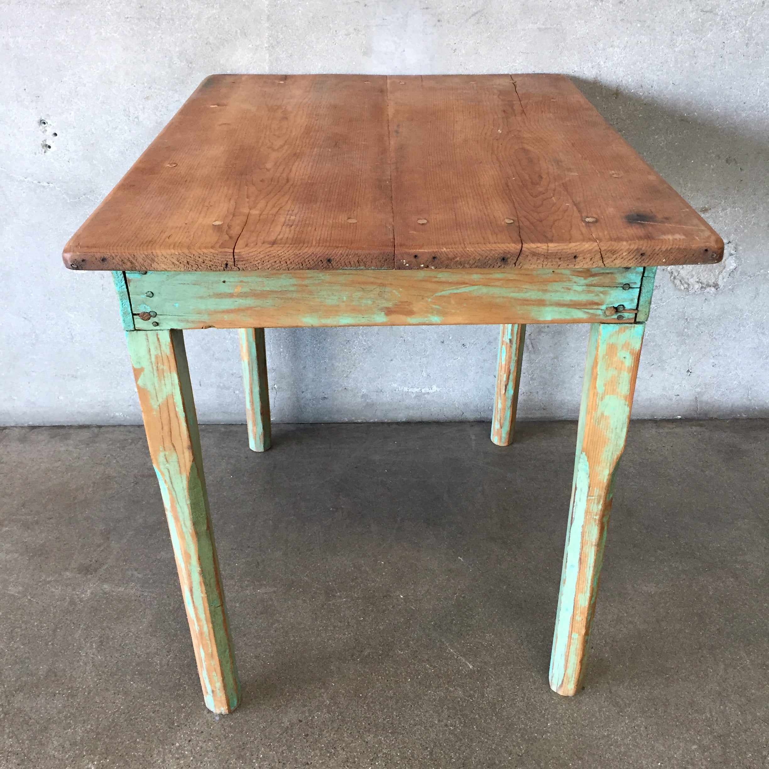 Marvelous Vintage Green Rustic Mexican Wood Table Bralicious Painted Fabric Chair Ideas Braliciousco