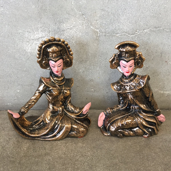 Pair of California Ceramics Bali Dancers