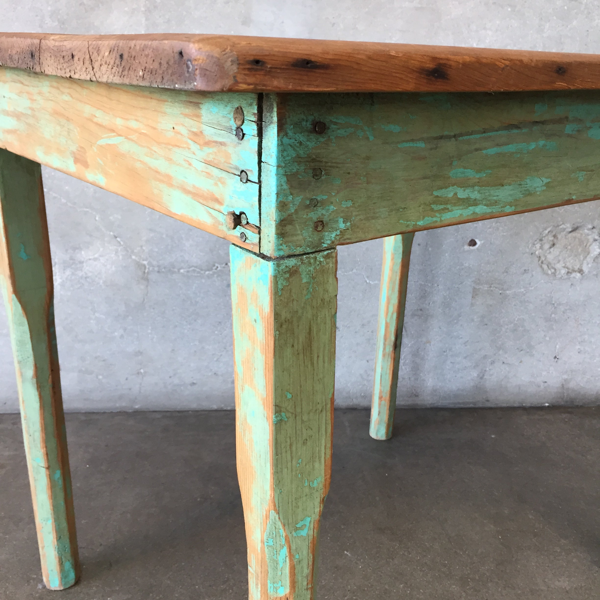 Fantastic Vintage Green Rustic Mexican Wood Table Bralicious Painted Fabric Chair Ideas Braliciousco