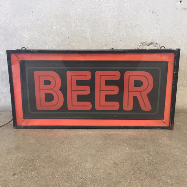 "1950's Light Up ""BEER"" Sign"