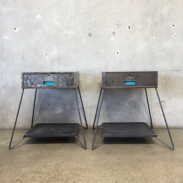 Industrial All Metal Side Tables