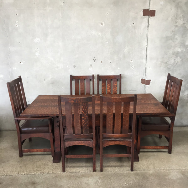 Warren Hile American Craftsman Dining Table & Chairs