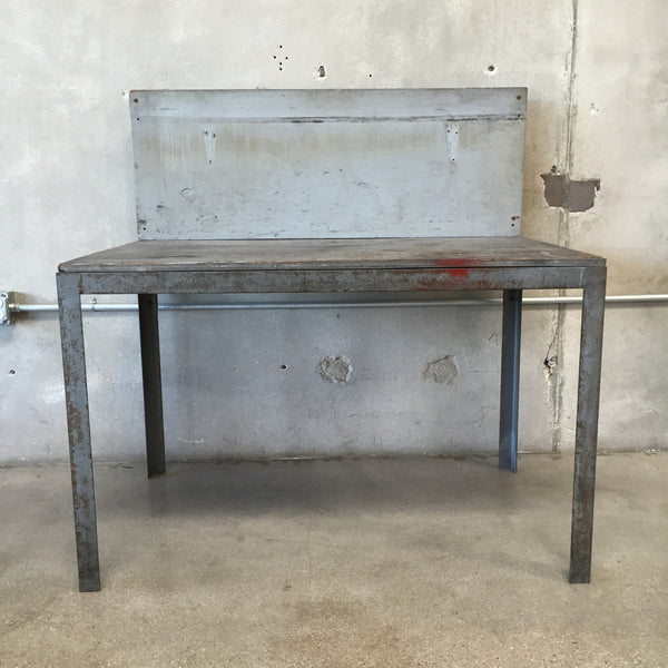 Grey Wood Industrial Bench / Work Bench