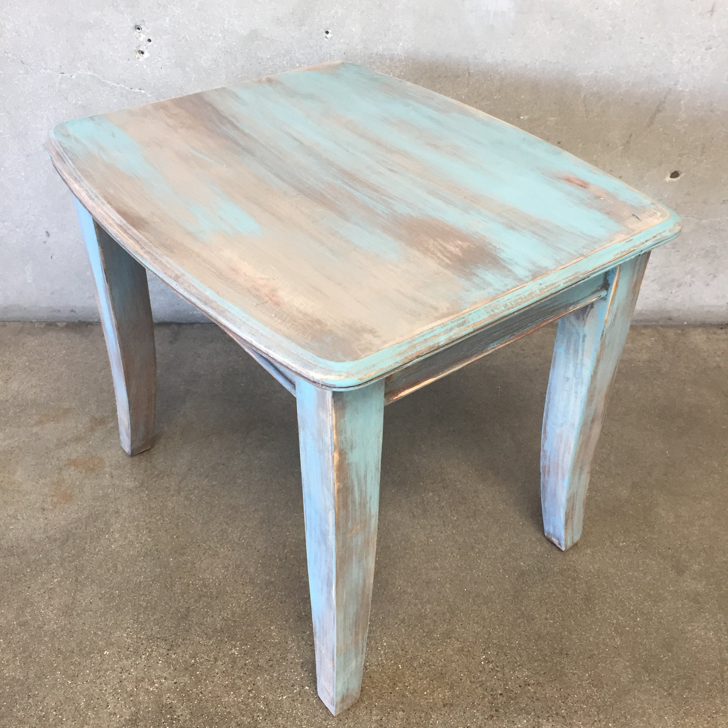 ... Upcycled Side Table ...