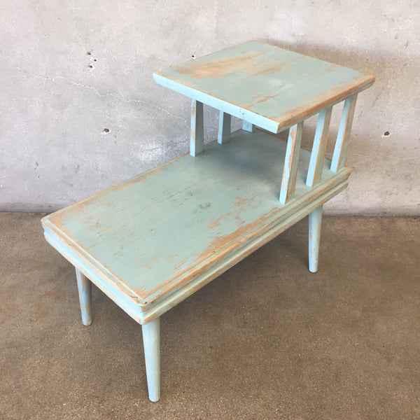 Vintage Two Tier Upcycled End Table