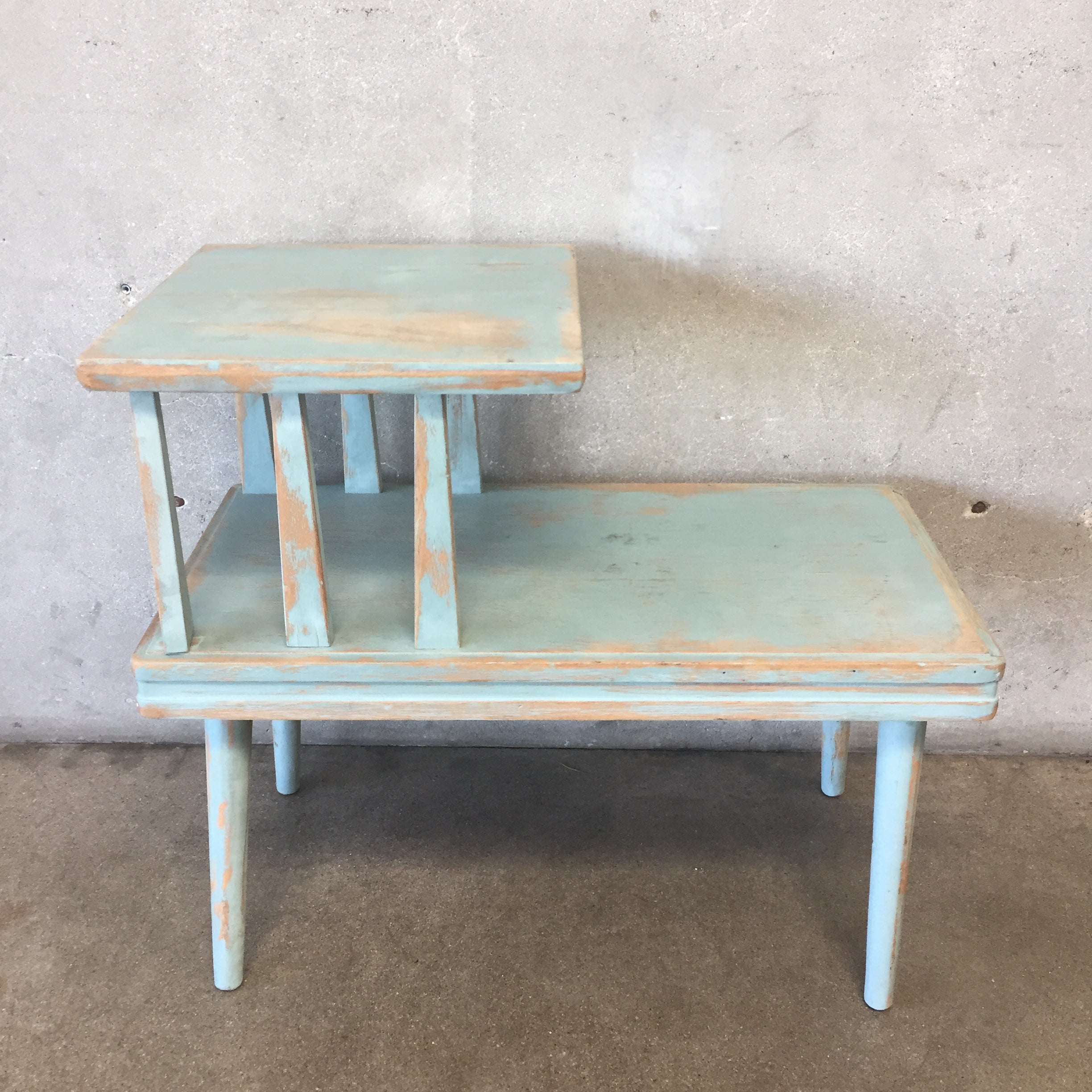 ... Vintage Two Tier Upcycled End Table
