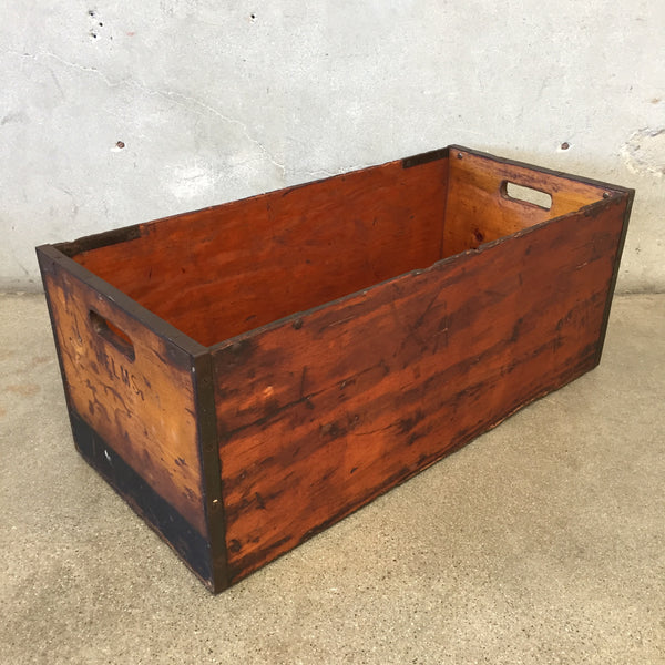 1940's Helms Bakert Wood Bread Crate