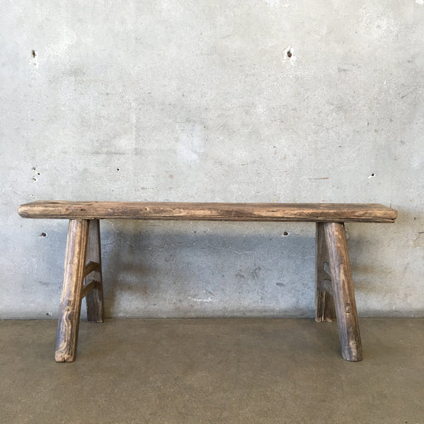 Primitive Worker's Skinny Wood Bench