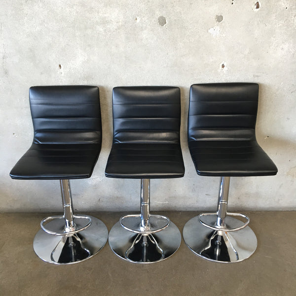 Set of Three Modern Barstools