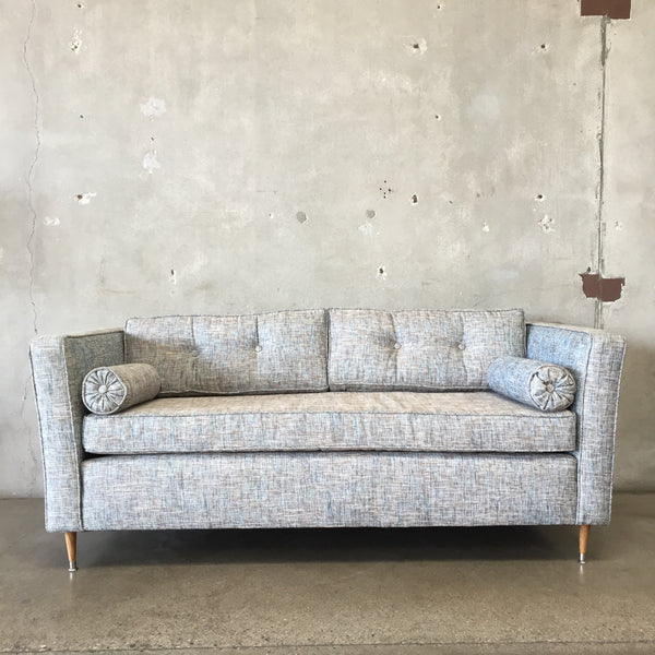 Vintage Mid Century Sofa with New Upholstery