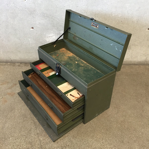 Green Metal Kennedy Kits Tool Box