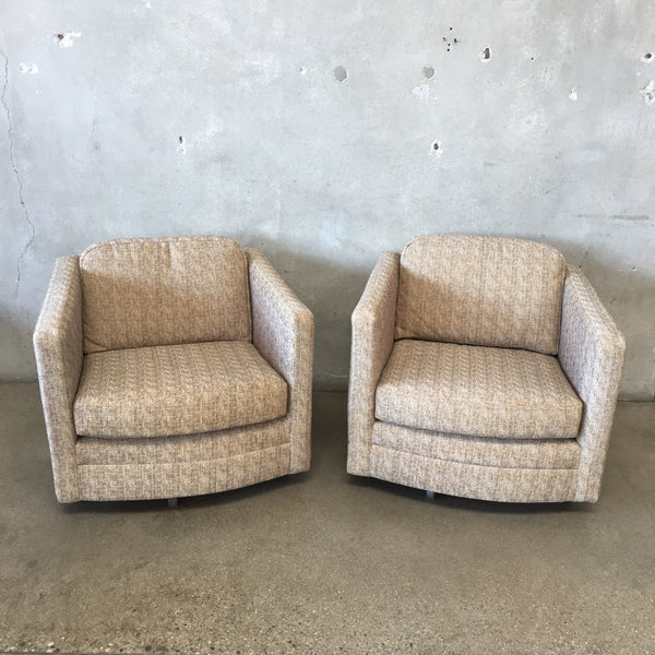 Pair of 1974 Cube Swivel Chairs from Frank Brothers