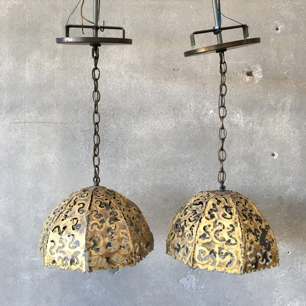 Pair of Tom Greene for Feldman Hanging Lamps