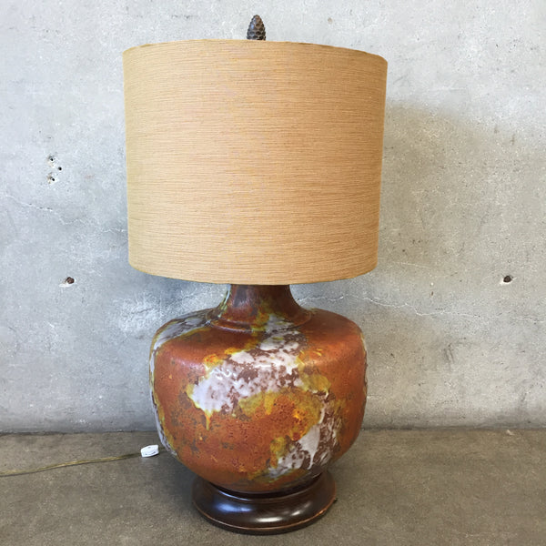 Mid Century Glazed Lamp