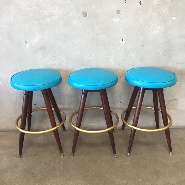 Set of Three Vintage Stools