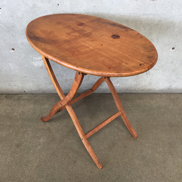 Vintage Maple Tilt Top Side Table