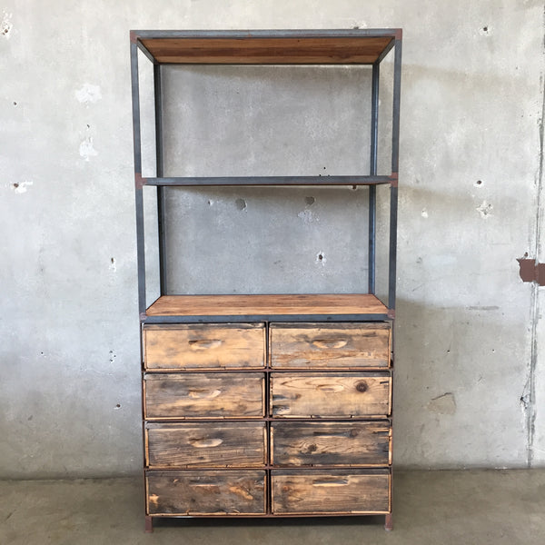 Industrial Shelving Unit with Drawers