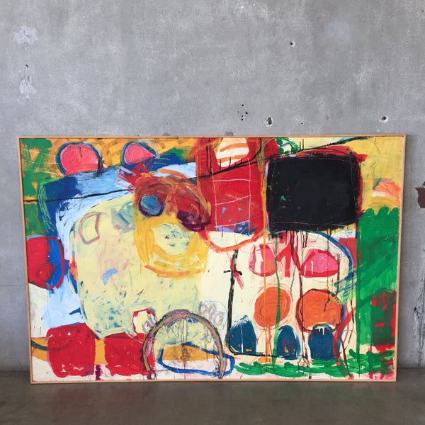 Large Oil on Wood by Conor Corbett Circa 1990