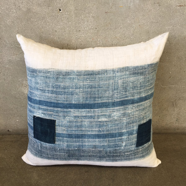 Vintage Indigo Hilltribe Fabric Pillow