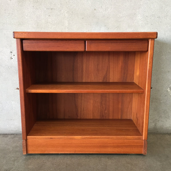 Mid Century Teak Bookshelf with Two Drawers and Two Shelves
