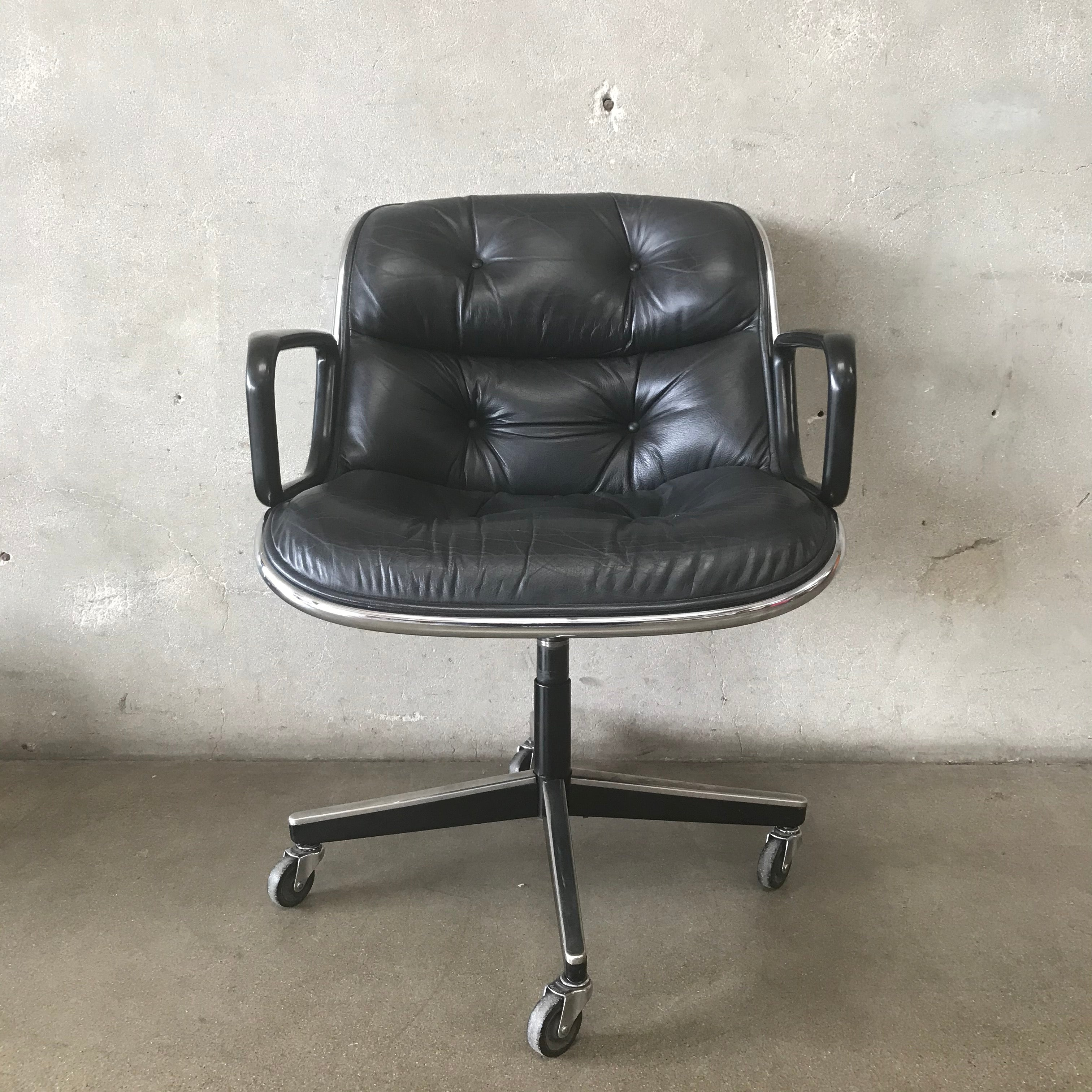 Vintage Charles Pollock For Knoll Desk Chair