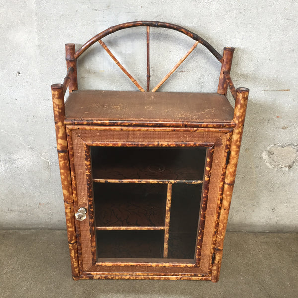 Vintage Rattan Wall Cabinet