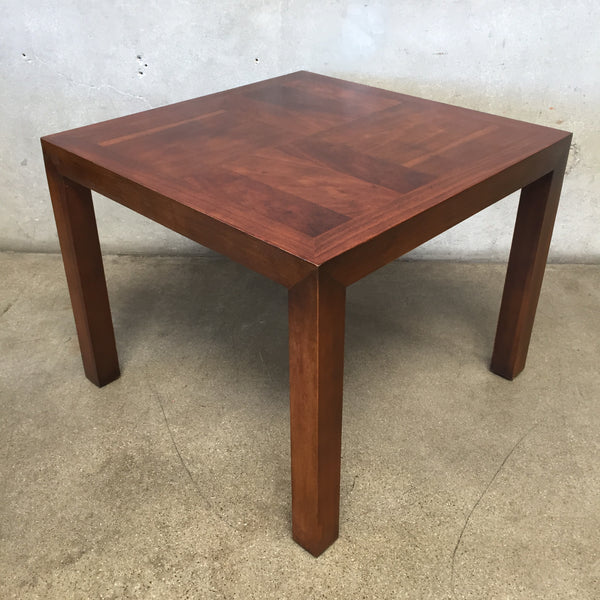 Mid Century Walnut Lane Corner Table