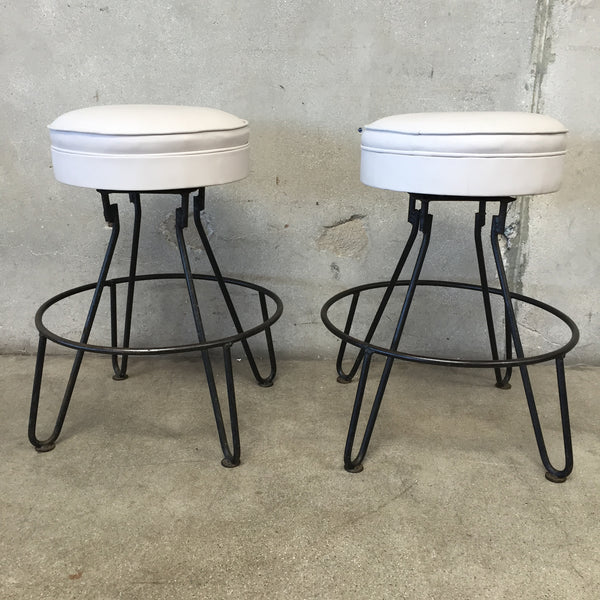 Pair of Mid Century Hairpin Leg Stools