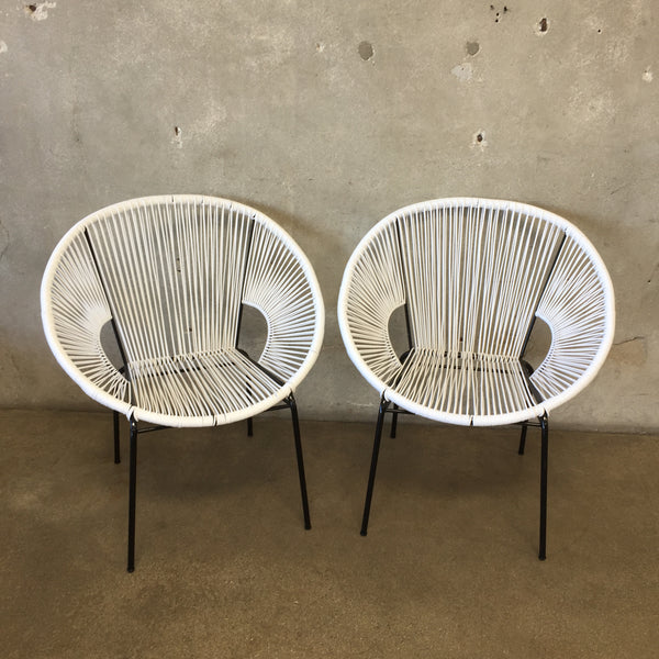 Pair of White Acapulco Chairs