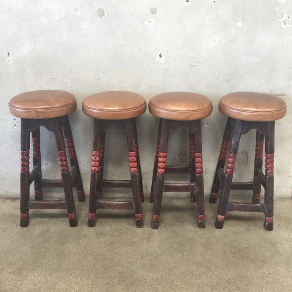 Set of Four Monterey Style Coronado Bar Stools