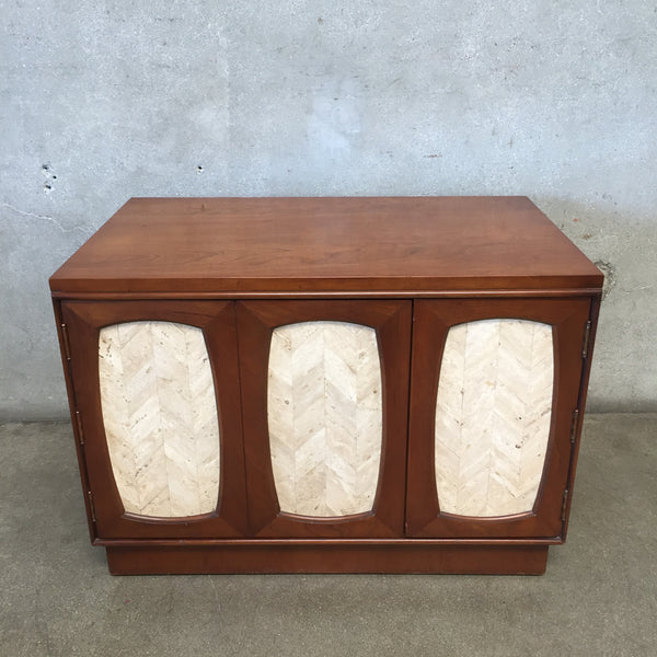 Mid Century Lane Side Table Cabinet