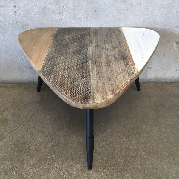 Mid Century Style Tri Color Triangular Table