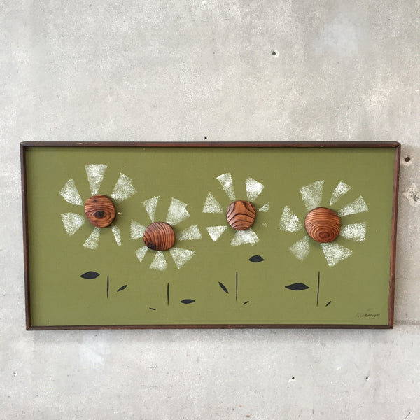 "Mid Century Modern ""Daisies"" Art by Witco"