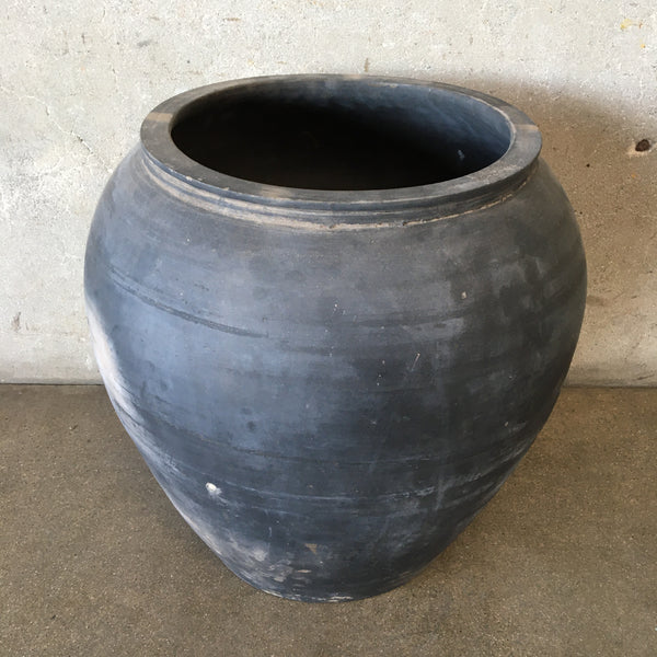 Vintage Dark Clay Pot - Extra Large (#2)
