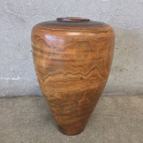 Vintage Turned Wood Vase