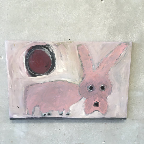 Pink Dog Painting by Jay Hill - American | 1958