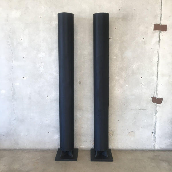 Large Vintage Column Speakers with Bass
