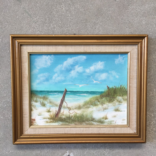 Framed Original Vintage Seascape Painting