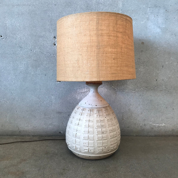 Mid Century Studio Pottery Lamp by Bob Kinzie