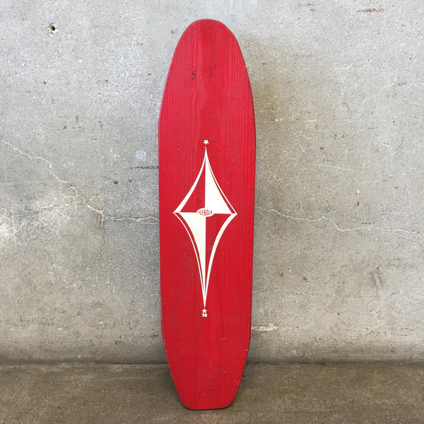 "Vintage ""Fli Back"" Red Skateboard"