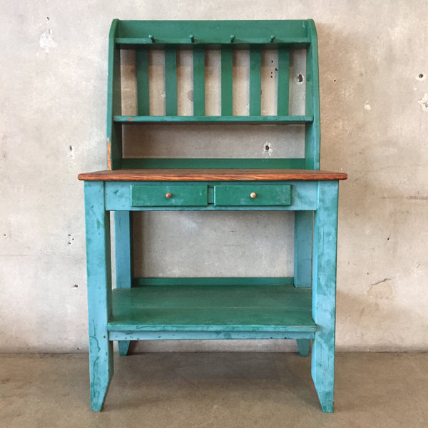 Green Wood Farmhouse Hutch