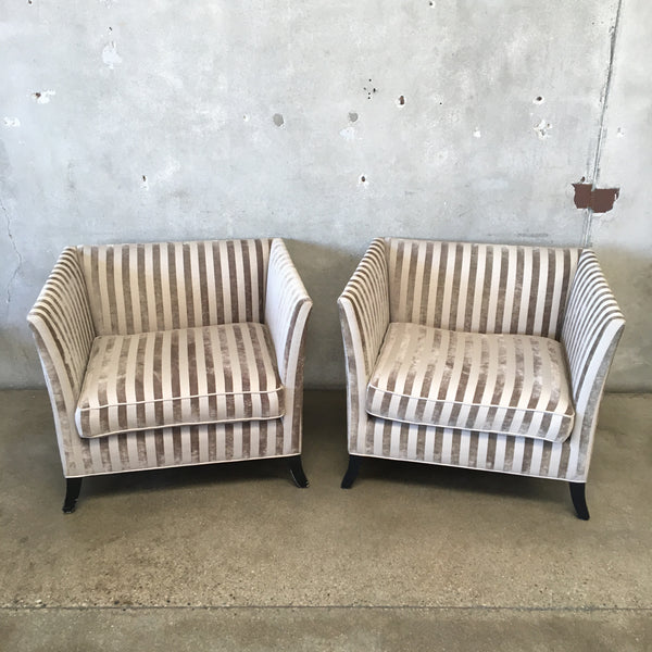 Pair of Upholstered Oversized Chairs Brushed Velvet